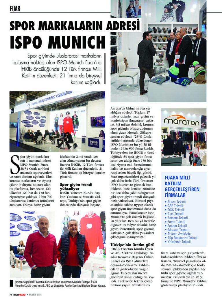 Spor Markaların Adresi ISPO Munich